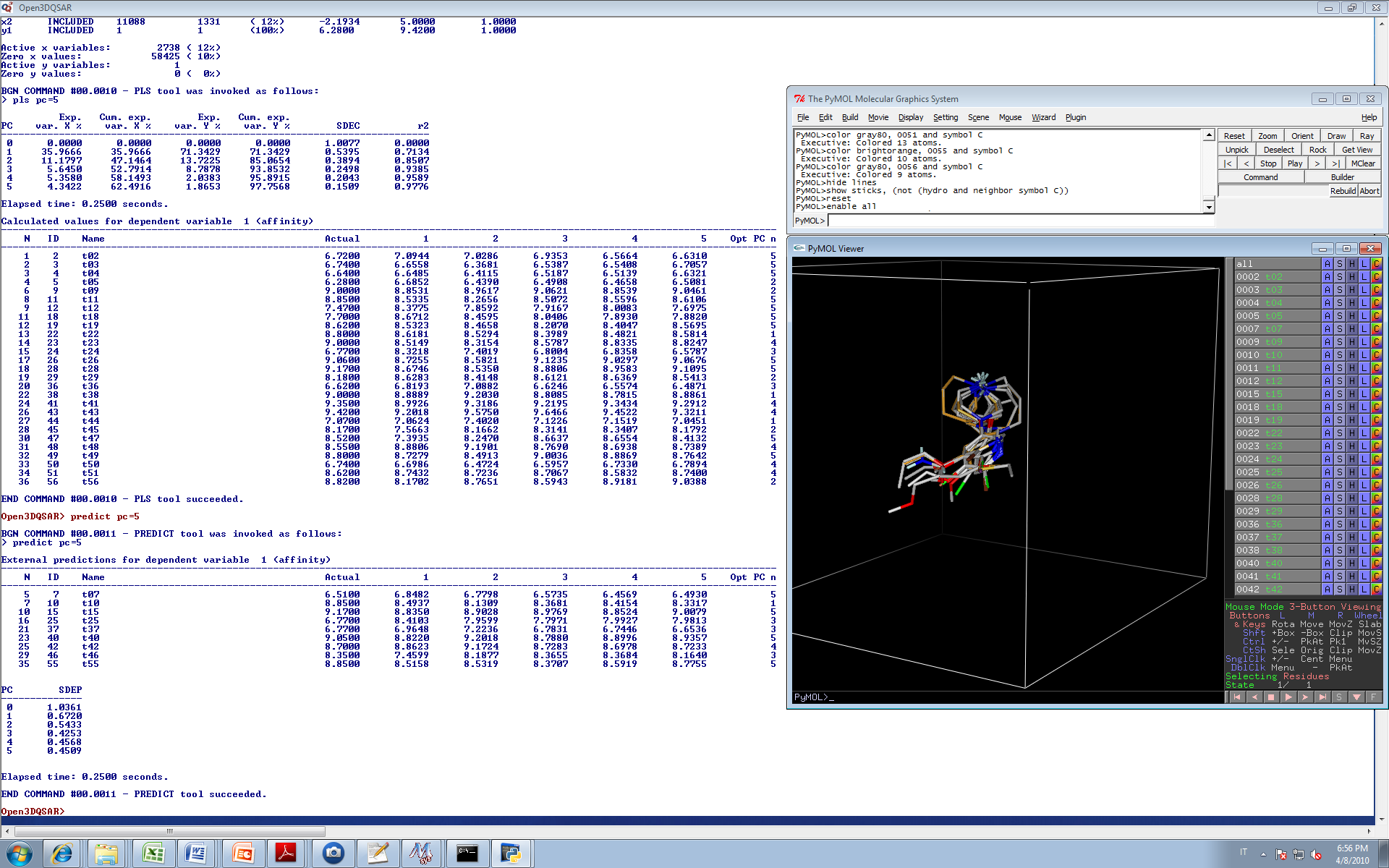 Open3DQSAR x64 screenshot